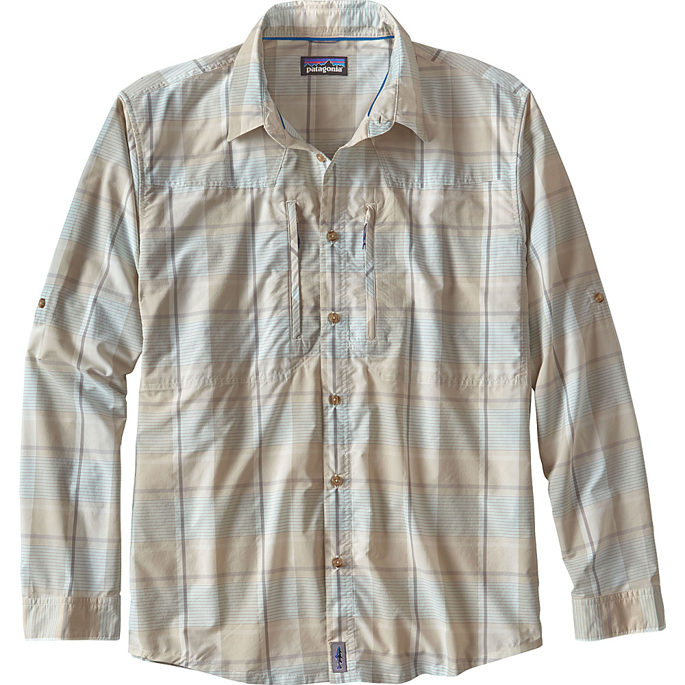 Patagonia Mens Long Sleeve Sun Stretch Shirt XS - Back Cast: Bleached Stone - Patagonia Mens Apparel - Apparel & Footwear, Men's Apparel