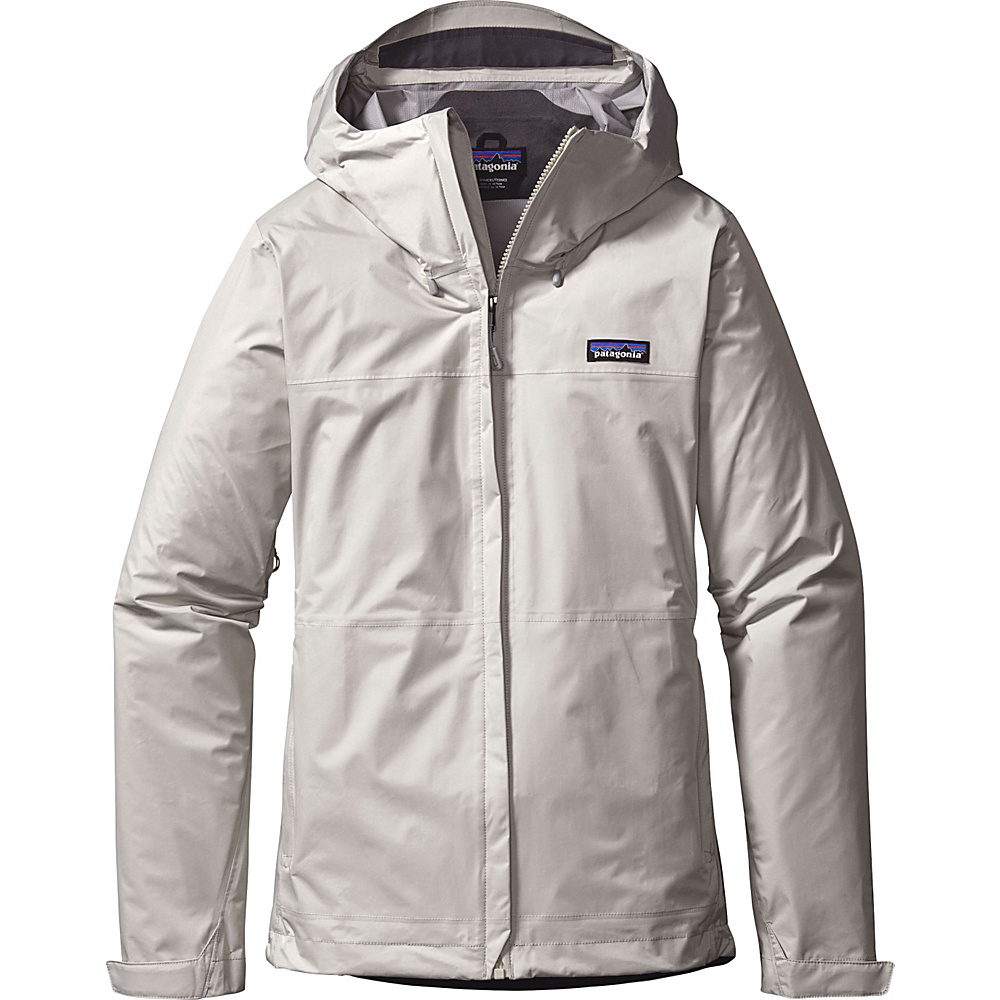 Patagonia Womens Torrentshell Jacket M - Birch White - Patagonia Womens Apparel - Apparel & Footwear, Women's Apparel
