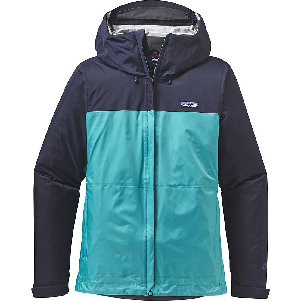 Patagonia Womens Torrentshell Jacket M - Navy Blue with Epic Blue - Patagonia Womens Apparel - Apparel & Footwear, Women's Apparel