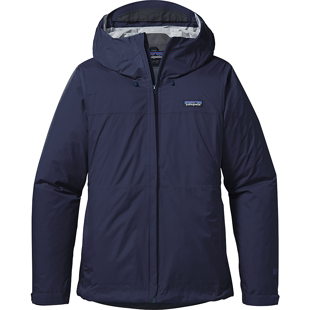 Patagonia Womens Torrentshell Jacket M - Navy Blue - Patagonia Womens Apparel - Apparel & Footwear, Women's Apparel