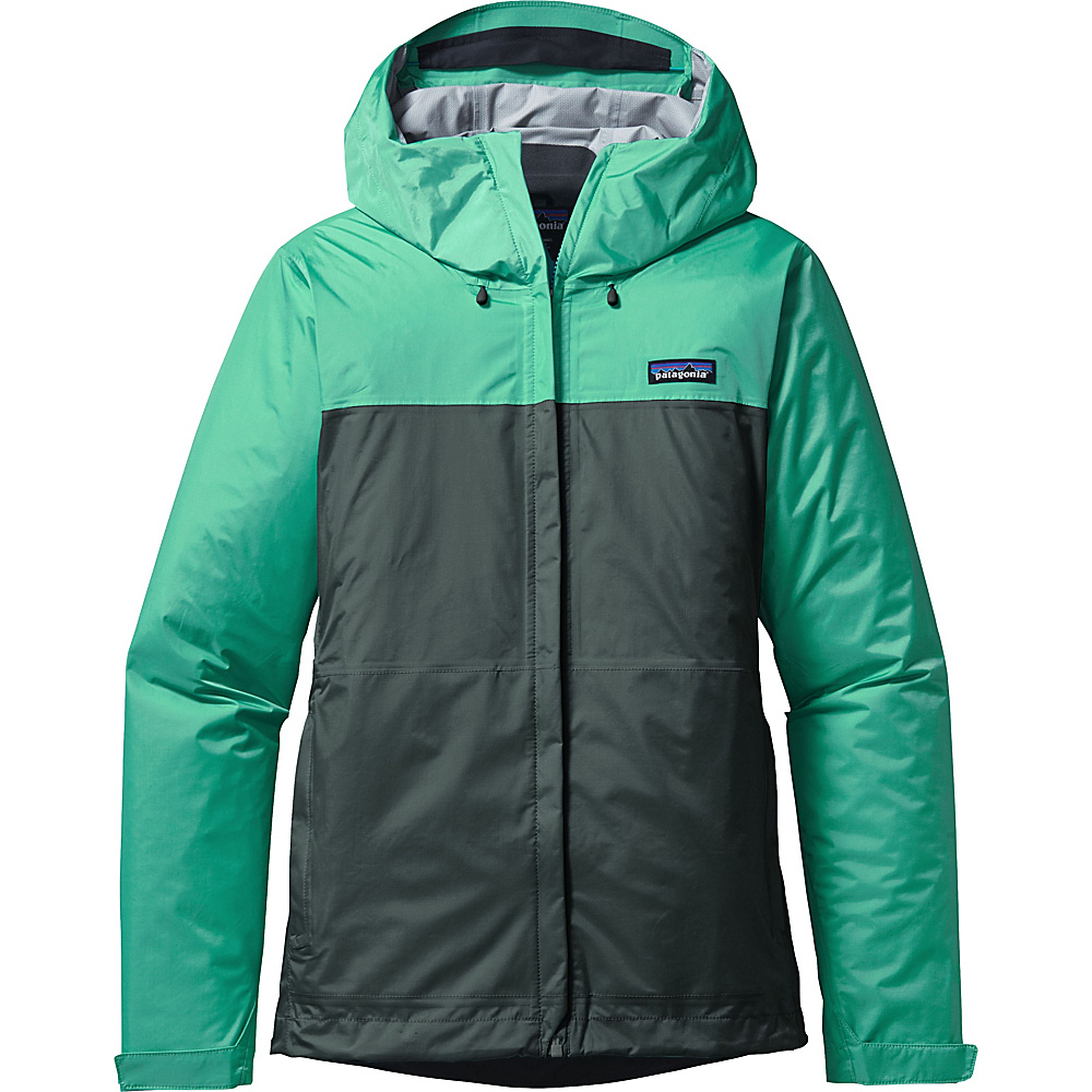 Patagonia Womens Torrentshell Jacket XXS - Galah Green with Nouveau Green - Patagonia Womens Apparel - Apparel & Footwear, Women's Apparel