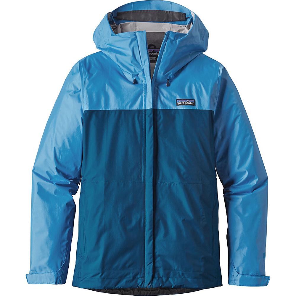 Patagonia Womens Torrentshell Jacket XS - Radar Blue with Big Sur Blue - Patagonia Womens Apparel - Apparel & Footwear, Women's Apparel