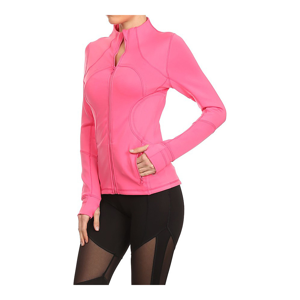 Electric Yoga Fierce Jacket L Pink Electric Yoga Women s Apparel