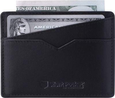 Silent Pocket V2 RFID Secure Simple Card Wallet Black - Silent Pocket Travel Wallets