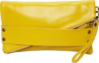 MOFE Trifecta Clutch Yellow - MOFE Leather Handbags