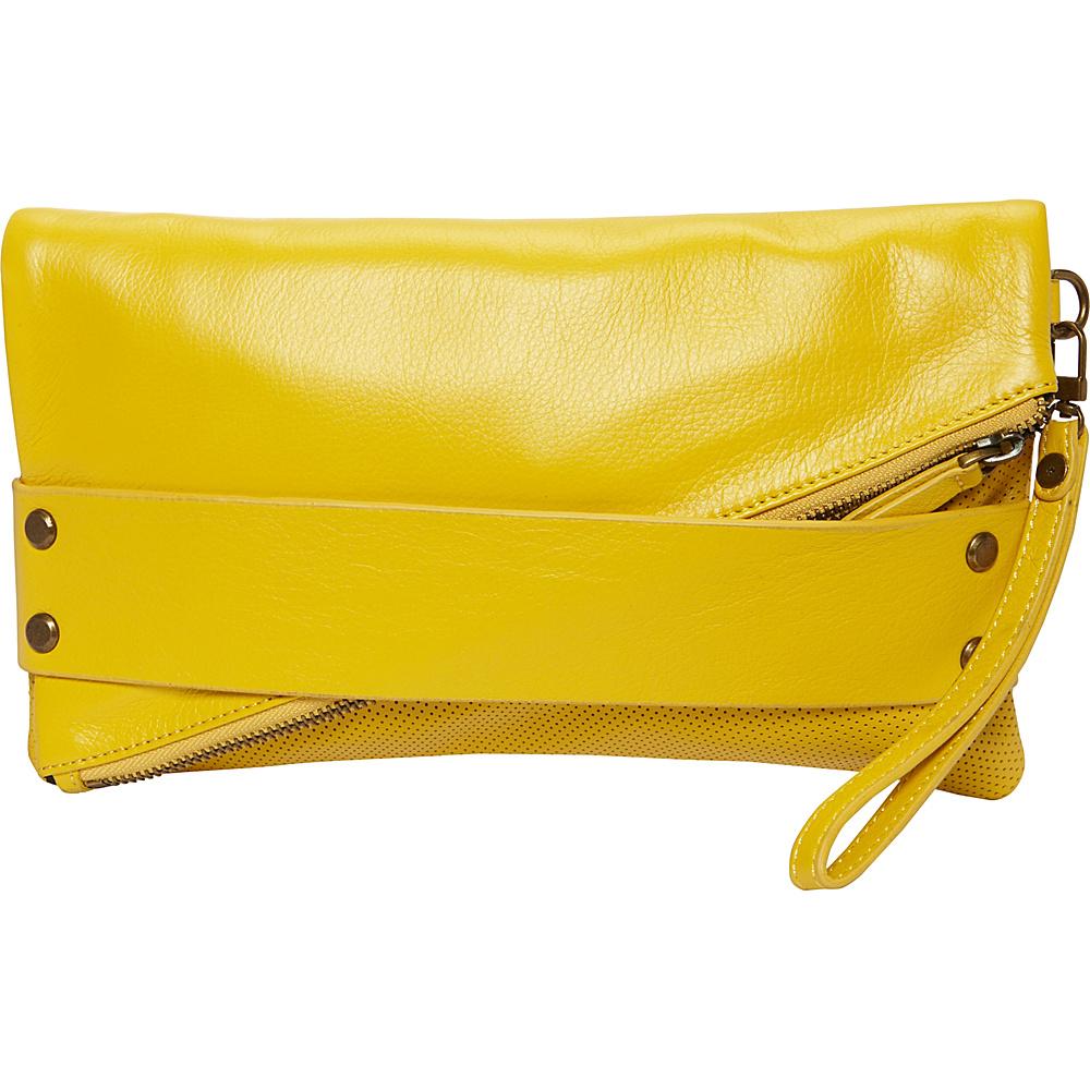 MOFE Trifecta Clutch Yellow MOFE Leather Handbags
