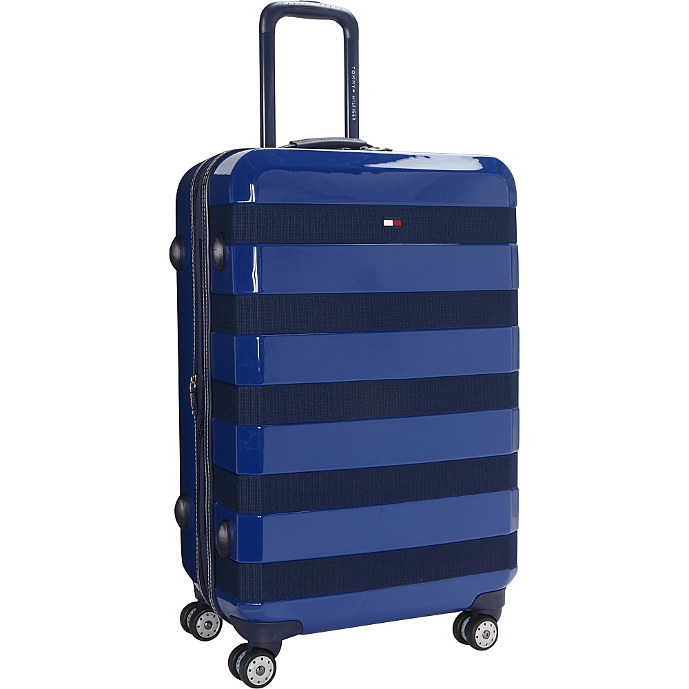 Tommy Hilfiger Luggage Rugby Stripe 24 Upright Hardside Spinner Royal Tommy Hilfiger Luggage Hardside Checked