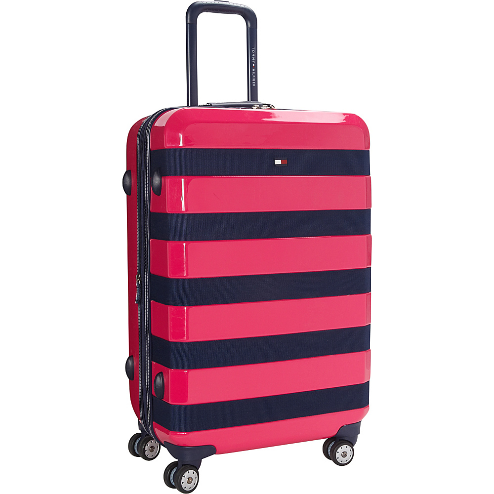 Tommy Hilfiger Luggage Rugby Stripe 24 Upright Hardside Spinner Pink Tommy Hilfiger Luggage Hardside Checked