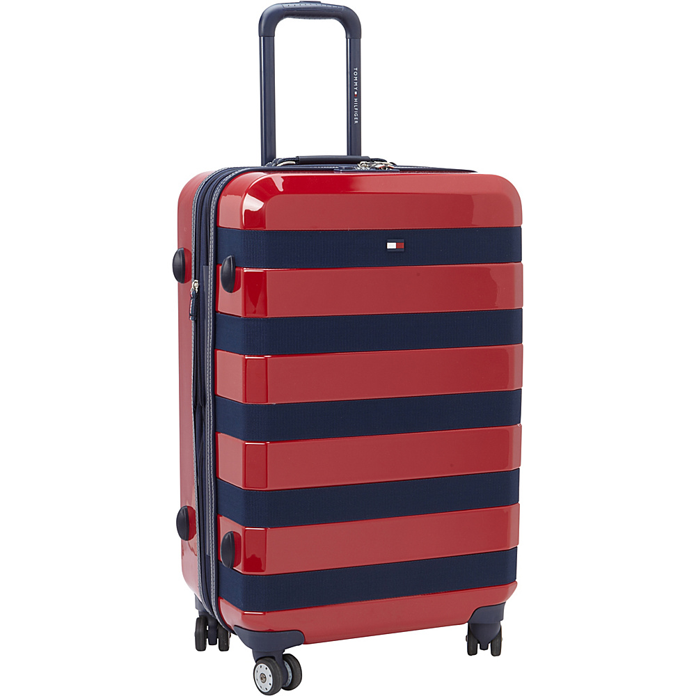 Tommy Hilfiger Luggage Rugby Stripe 24 Upright Hardside Spinner Red Tommy Hilfiger Luggage Hardside Checked