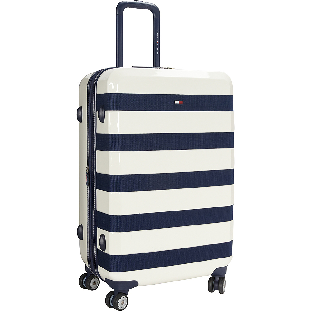 Tommy Hilfiger Luggage Rugby Stripe 24 Upright Hardside Spinner White Tommy Hilfiger Luggage Hardside Checked