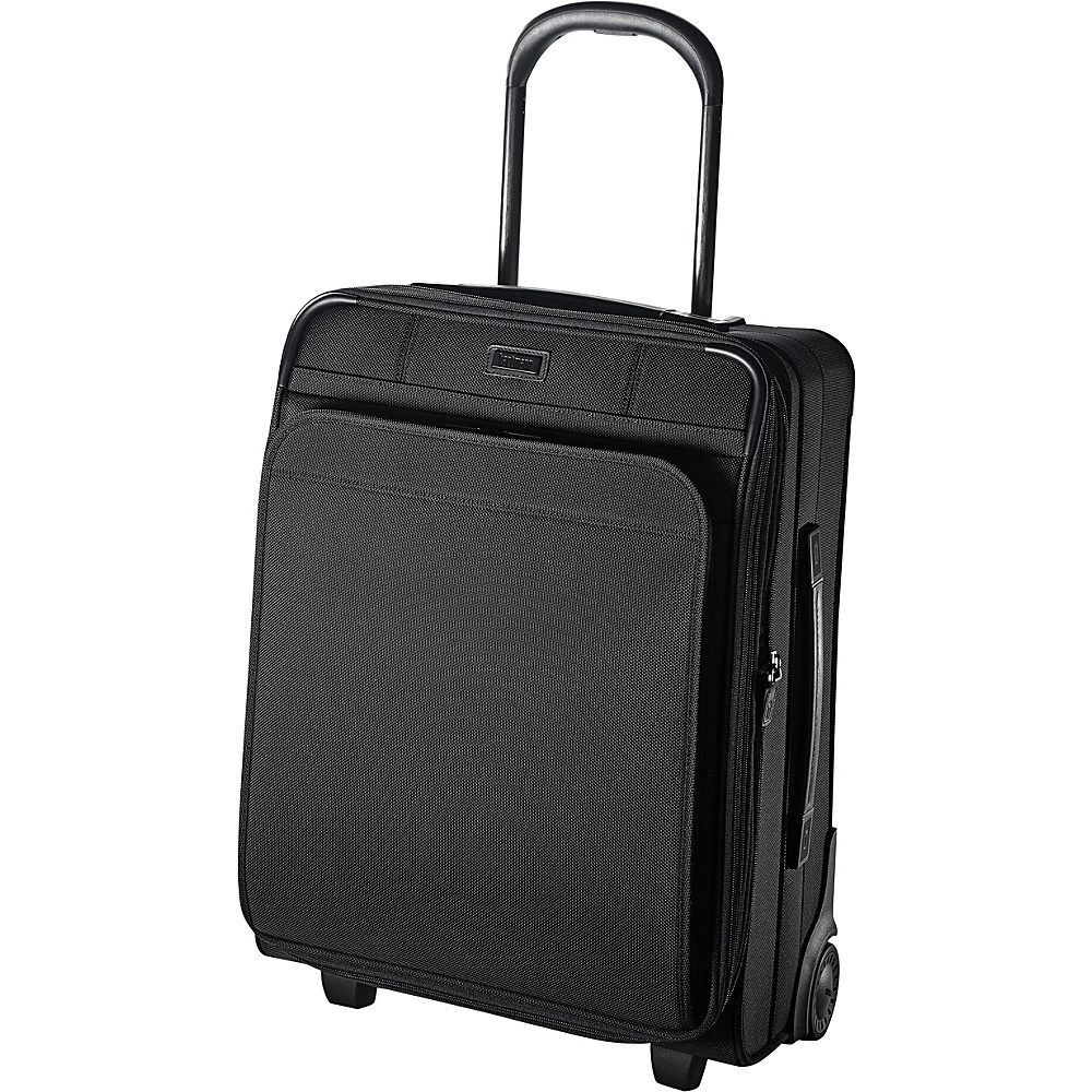 Hartmann Luggage Ratio Global Carry On Expandable Upright True Black Hartmann Luggage Softside Carry On