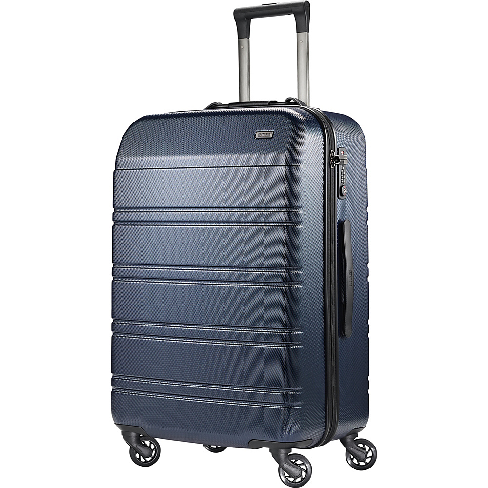 Hartmann Luggage Vigor 2 Medium Journey Spinner Midnight Navy Hartmann Luggage Hardside Checked