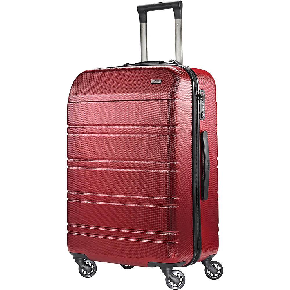 Hartmann Luggage Vigor 2 Medium Journey Spinner Garnet Red Hartmann Luggage Hardside Checked