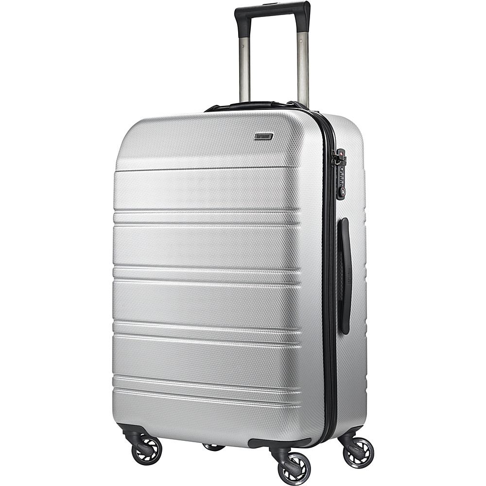 Hartmann Luggage Vigor 2 Medium Journey Spinner Glacial Silver Hartmann Luggage Hardside Checked