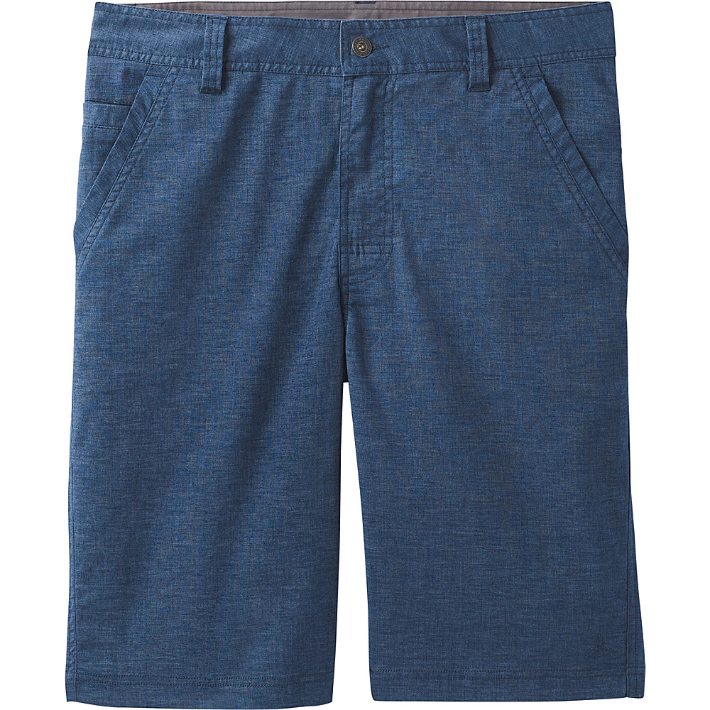 PrAna Furrow Shorts - 8 Inseam 30 - Equinox Blue - PrAna Mens Apparel - Apparel & Footwear, Men's Apparel