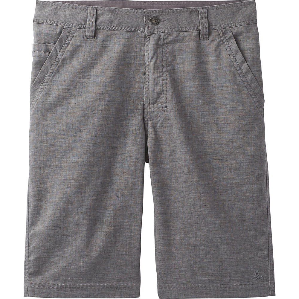 PrAna Furrow Shorts - 8 Inseam 32 - Gravel - PrAna Mens Apparel - Apparel & Footwear, Men's Apparel