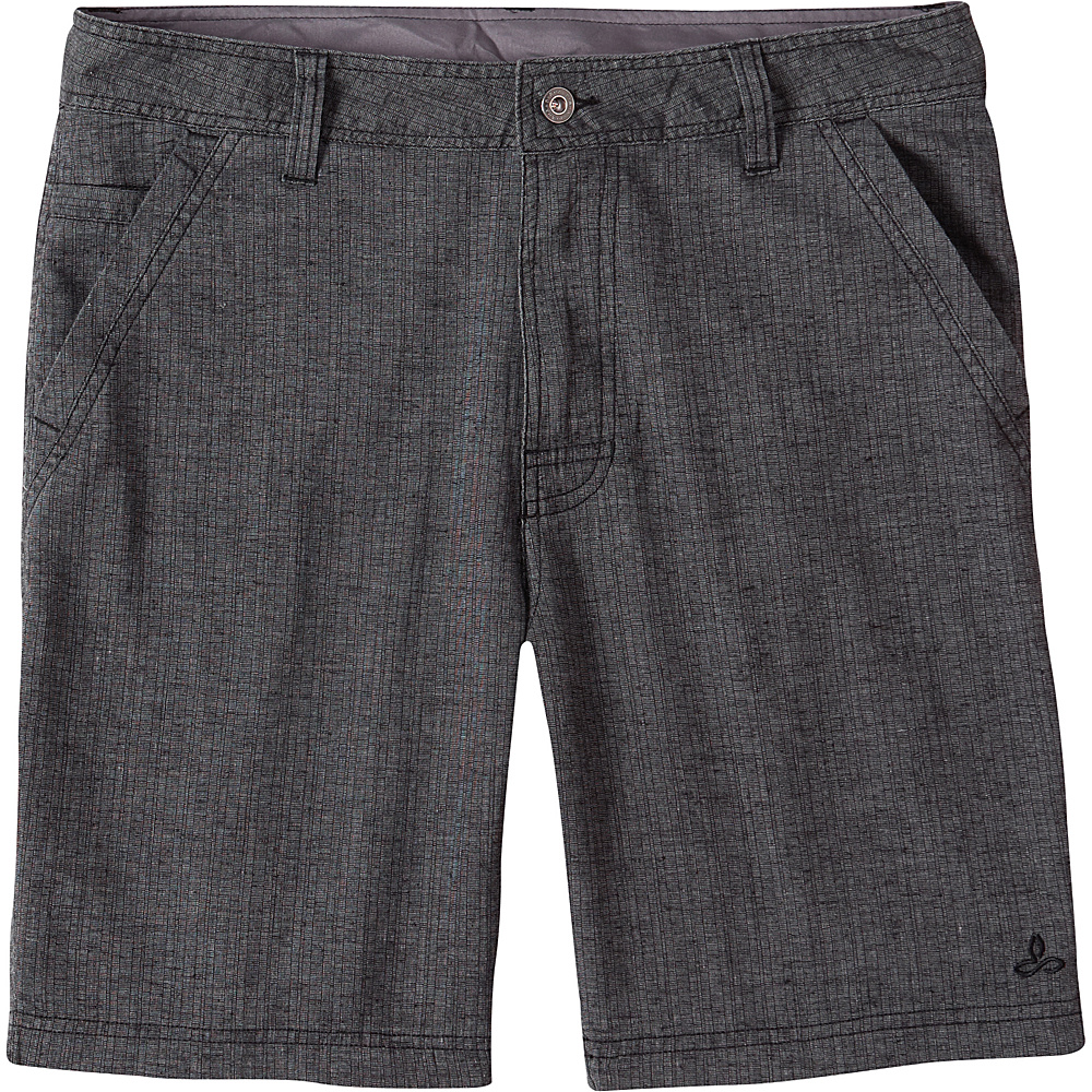 PrAna Furrow Shorts - 8 Inseam 28 - Black Herringbone - PrAna Mens Apparel - Apparel & Footwear, Men's Apparel