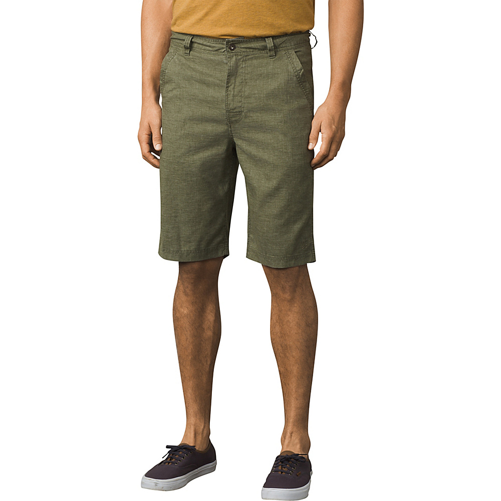 PrAna Furrow Shorts - 8 Inseam 32 - Cargo Green - PrAna Mens Apparel - Apparel & Footwear, Men's Apparel