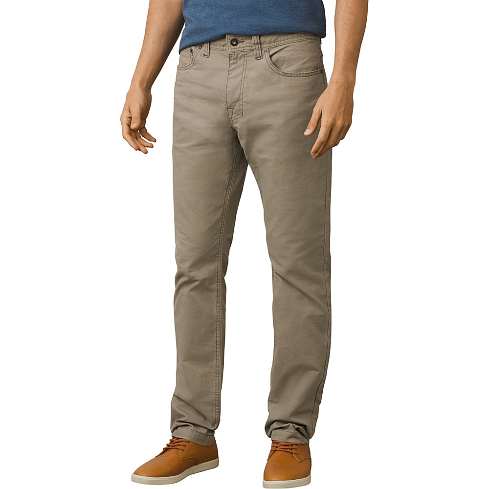 PrAna Tucson Slim Fit Pants - 32 Inseam 28 - Dark Khaki - PrAna Mens Apparel - Apparel & Footwear, Men's Apparel