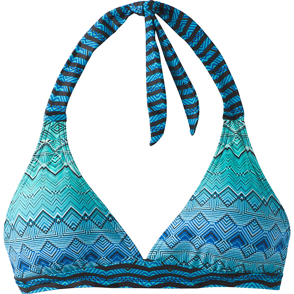 PrAna Lahari Halter Top M - Vortex Blue Rhythm - PrAna Womens Apparel - Apparel & Footwear, Women's Apparel