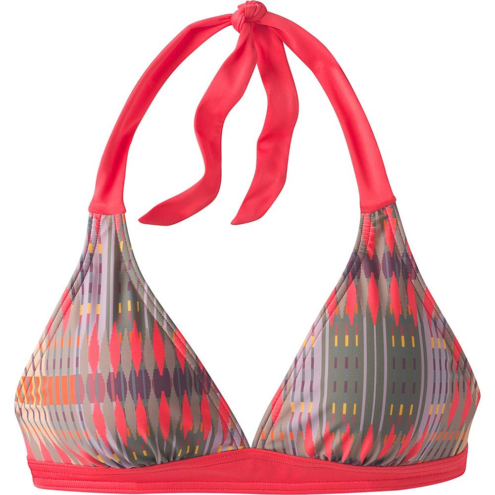PrAna Lahari Halter Top XS - Carmine Desert Geo - PrAna Womens Apparel - Apparel & Footwear, Women's Apparel