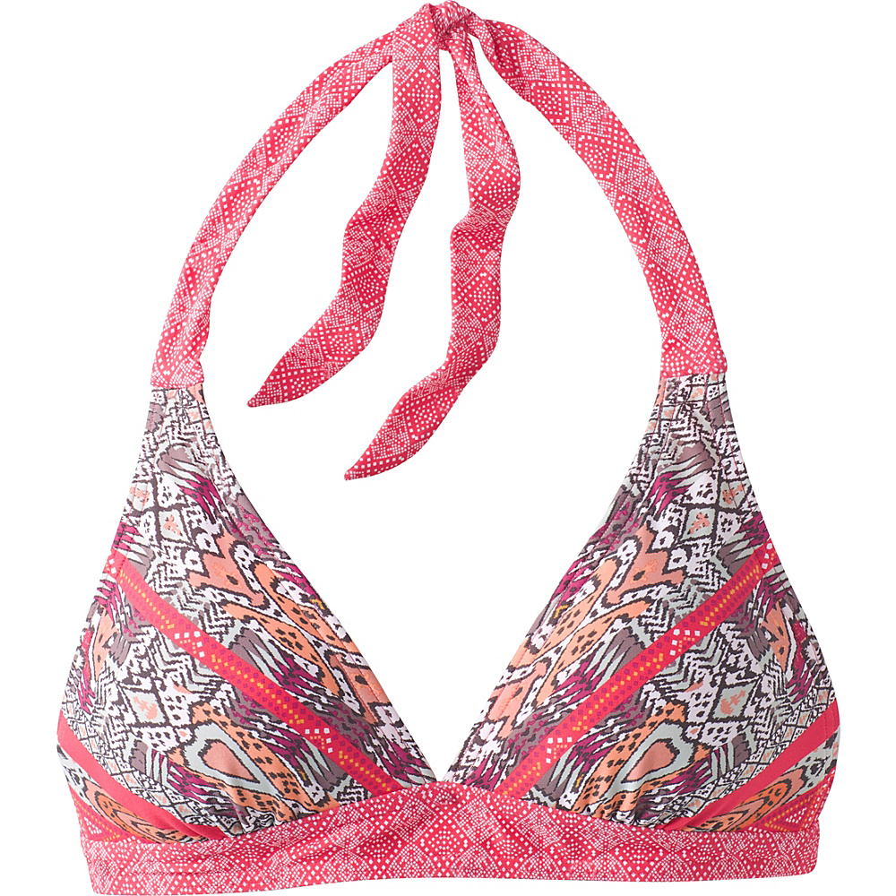 PrAna Lahari Halter Top S - Carmine Pink Marrakesh - PrAna Womens Apparel - Apparel & Footwear, Women's Apparel