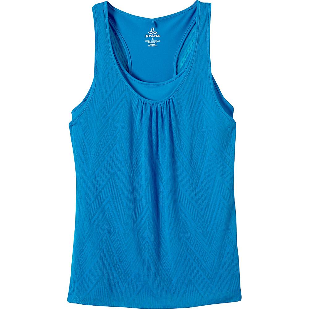 PrAna Mika Top M - Electro Blue - PrAna Womens Apparel - Apparel & Footwear, Women's Apparel