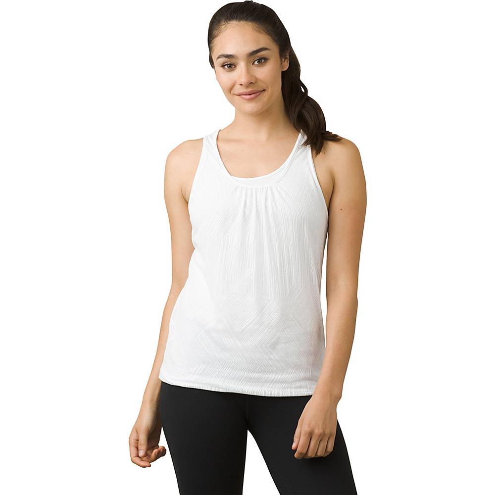PrAna Mika Top L - White Copa - PrAna Womens Apparel - Apparel & Footwear, Women's Apparel