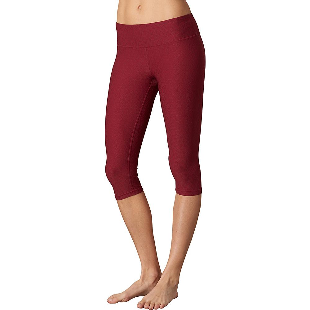 PrAna Misty Knicker M - Red Jacquard - PrAna Womens Apparel - Apparel & Footwear, Women's Apparel