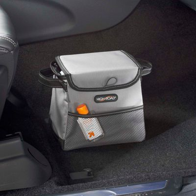 High Road StableMate Leakproof Compact Car Trash Basket Gray - High Road Trunk and Transport Organization