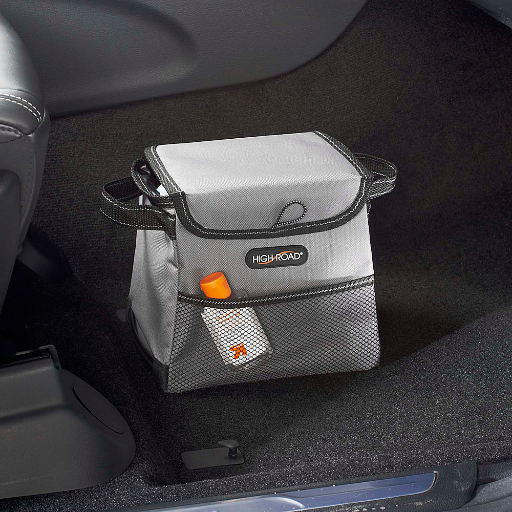 High Road StableMate Leakproof Compact Car Trash Basket Gray High Road Trunk and Transport Organization
