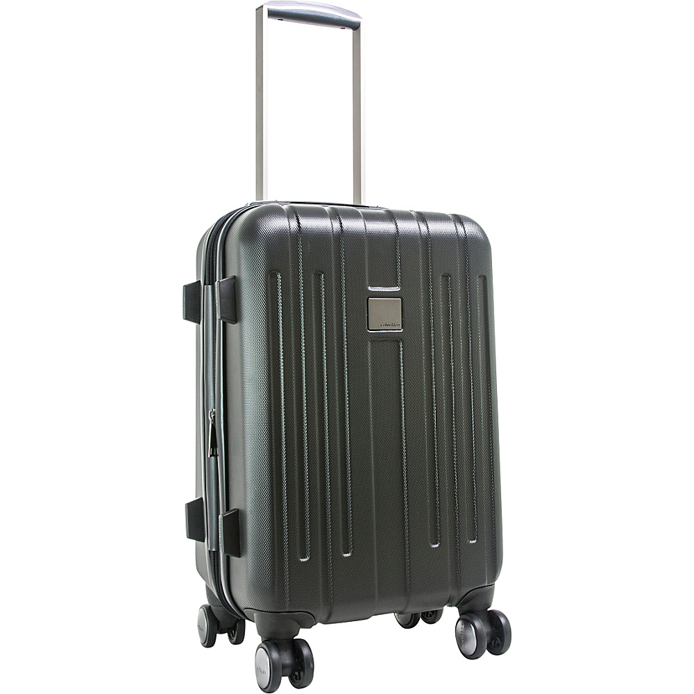 Calvin Klein Luggage Cortlandt 3.0 20 Carry On Hardside Spinner Black Calvin Klein Luggage Hardside Carry On