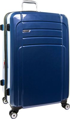 Calvin Klein Luggage Rome 29 Upright Hardside Spinner Blue - Calvin Klein Luggage Softside Checked