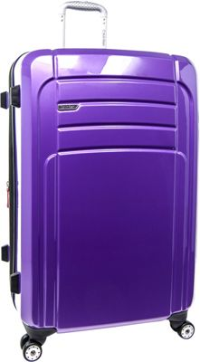 Calvin Klein Luggage Rome 29 Upright Hardside Spinner Plum - Calvin Klein Luggage Softside Checked