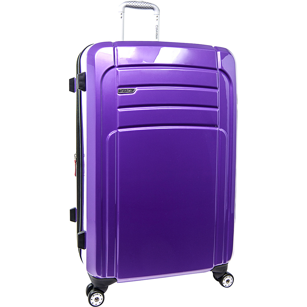 Calvin Klein Luggage Rome 29 Upright Hardside Spinner Plum Calvin Klein Luggage Softside Checked