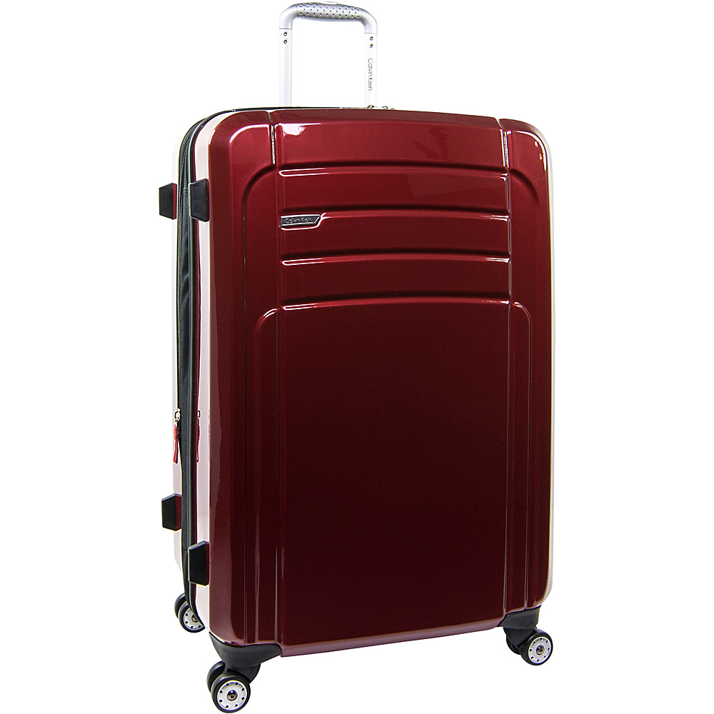 Calvin Klein Luggage Rome 29 Upright Hardside Spinner Red Calvin Klein Luggage Softside Checked
