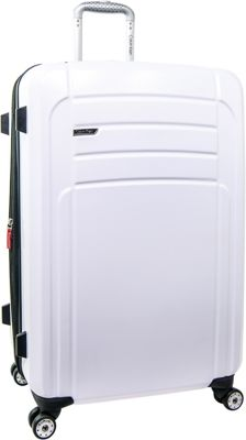 Calvin Klein Luggage Rome 29 Upright Hardside Spinner White - Calvin Klein Luggage Softside Checked