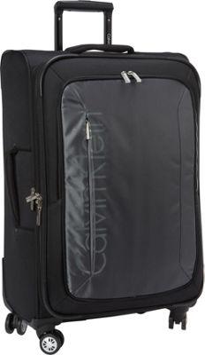 Calvin Klein Luggage Tremont 25 Upright Softside Spinner Grey - Calvin Klein Luggage Softside Checked