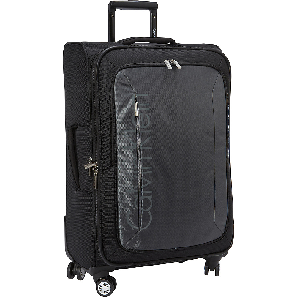 Calvin Klein Luggage Tremont 25 Upright Softside Spinner Grey Calvin Klein Luggage Softside Checked