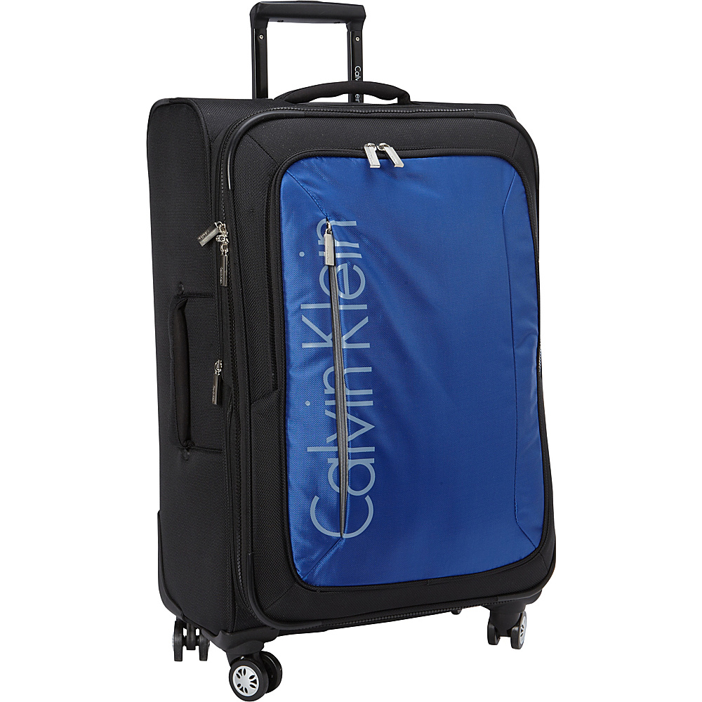 Calvin Klein Luggage Tremont 25 Upright Softside Spinner Blue Calvin Klein Luggage Softside Checked