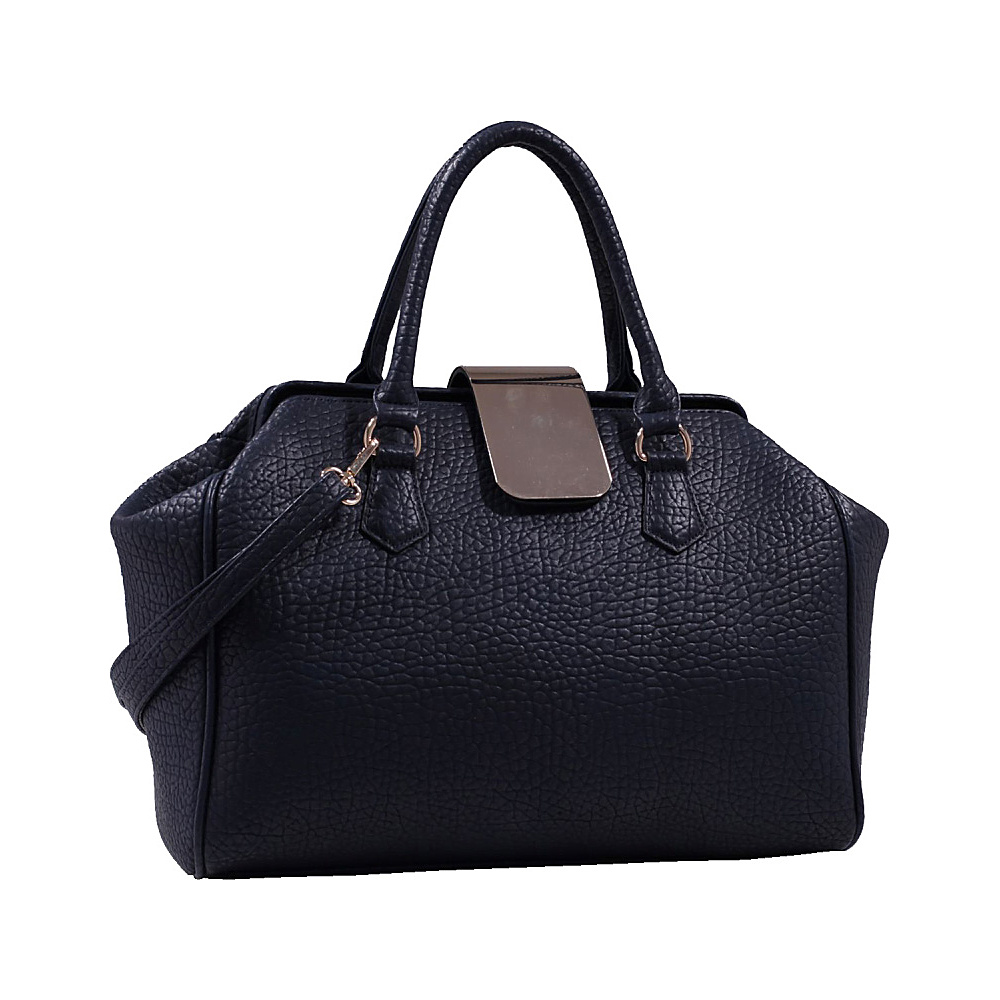 MKF Collection Emma Designer Satchel Dark Blue MKF Collection Manmade Handbags