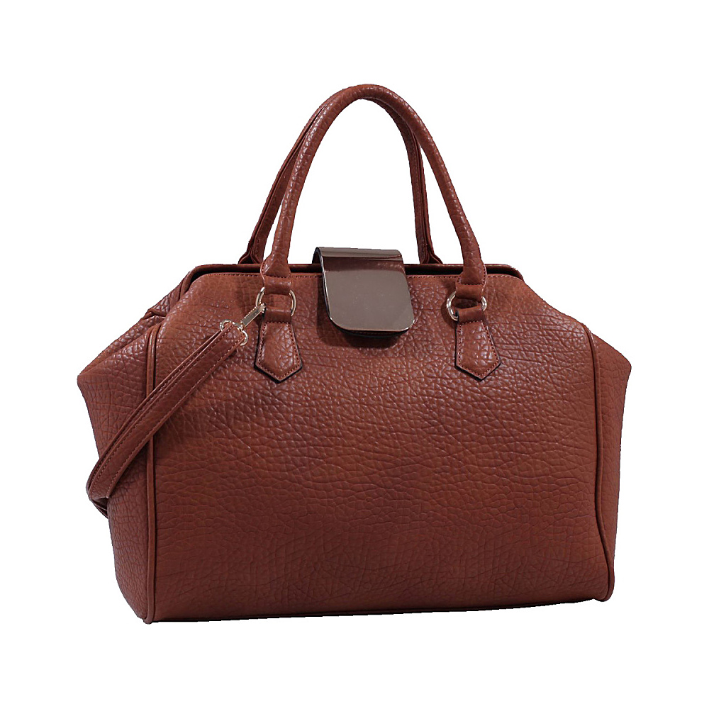 MKF Collection Emma Designer Satchel Brown MKF Collection Manmade Handbags