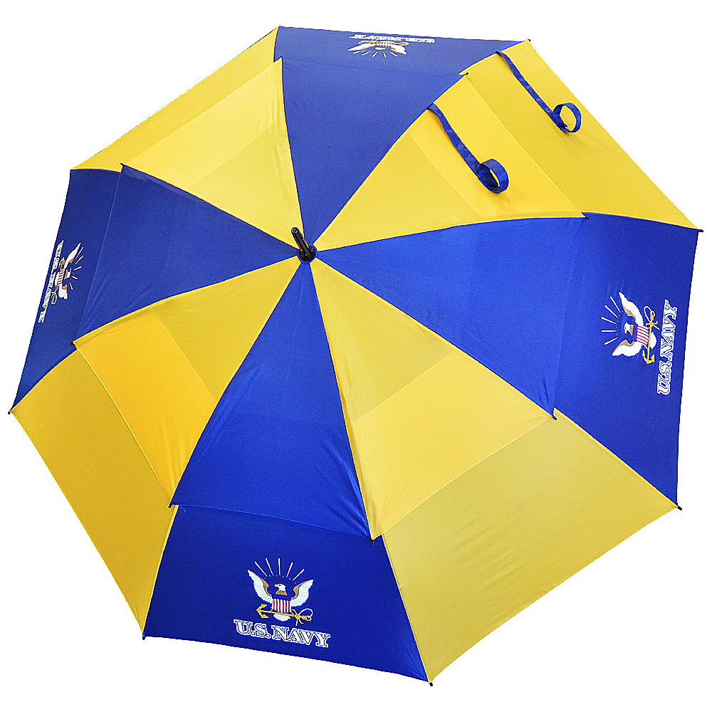 "Hot-Z Golf Bags 62"" Double Canopy Umbrella US Navy - Hot-Z Golf Bags Sports Accessories"
