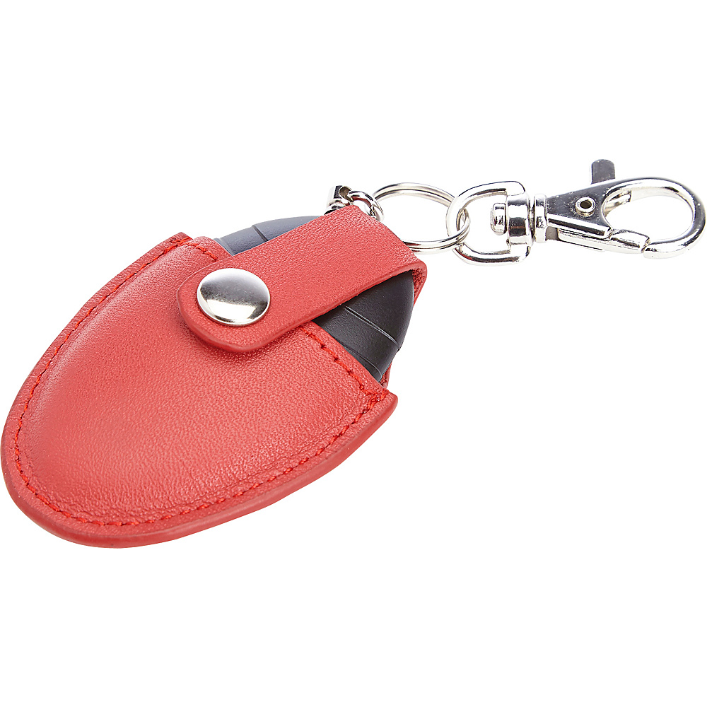 Royce Leather Bluetooth Tracking Smart Tag with Genuine Leather Key Fob Ring Organizer Red - Royce Leather Electronic Accessories - Technology, Electronic Accessories