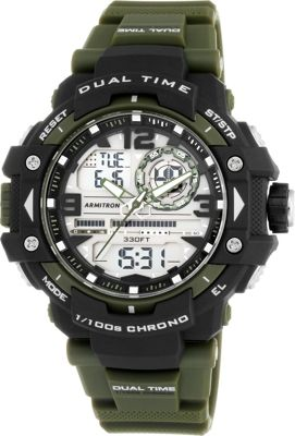 Armitron Mens Analog-Digital Chronograph Resin Strap Spor...