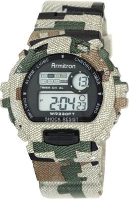 Armitron Sport Mens Digital Chronograph Watch With Camouflage Resin Band Camoflauge - Armitron Watches