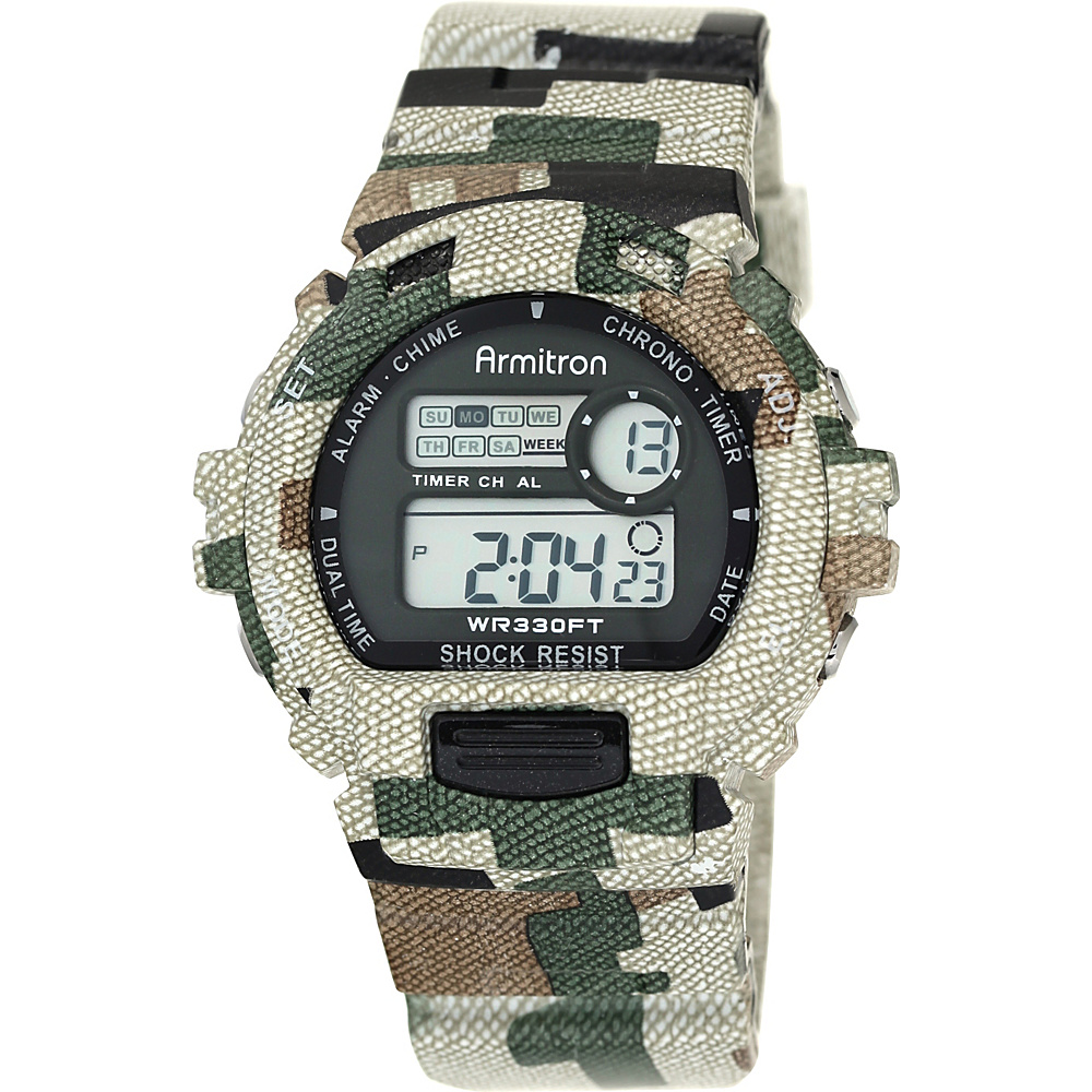 Armitron Sport Mens Digital Chronograph Watch With Camouflage Resin Band Camoflauge Armitron Watches