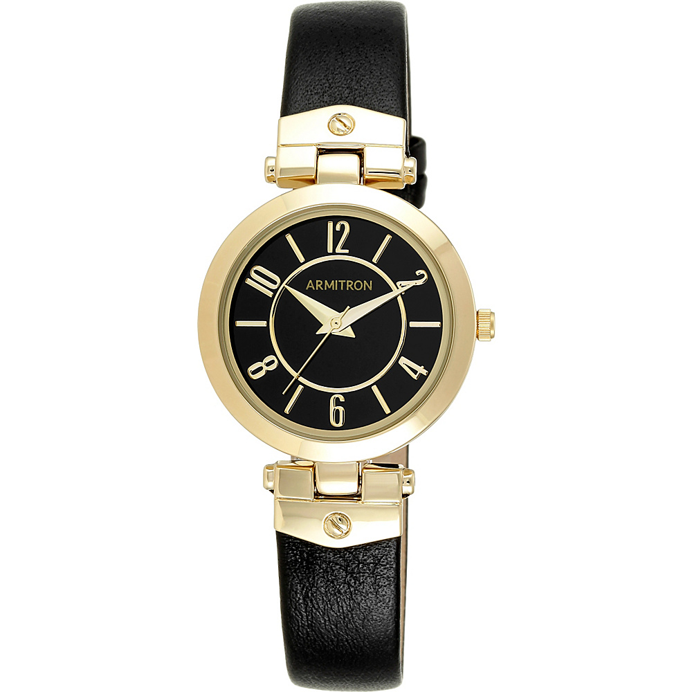 Armitron Womens Leather Strap Watch Gold Armitron Watches