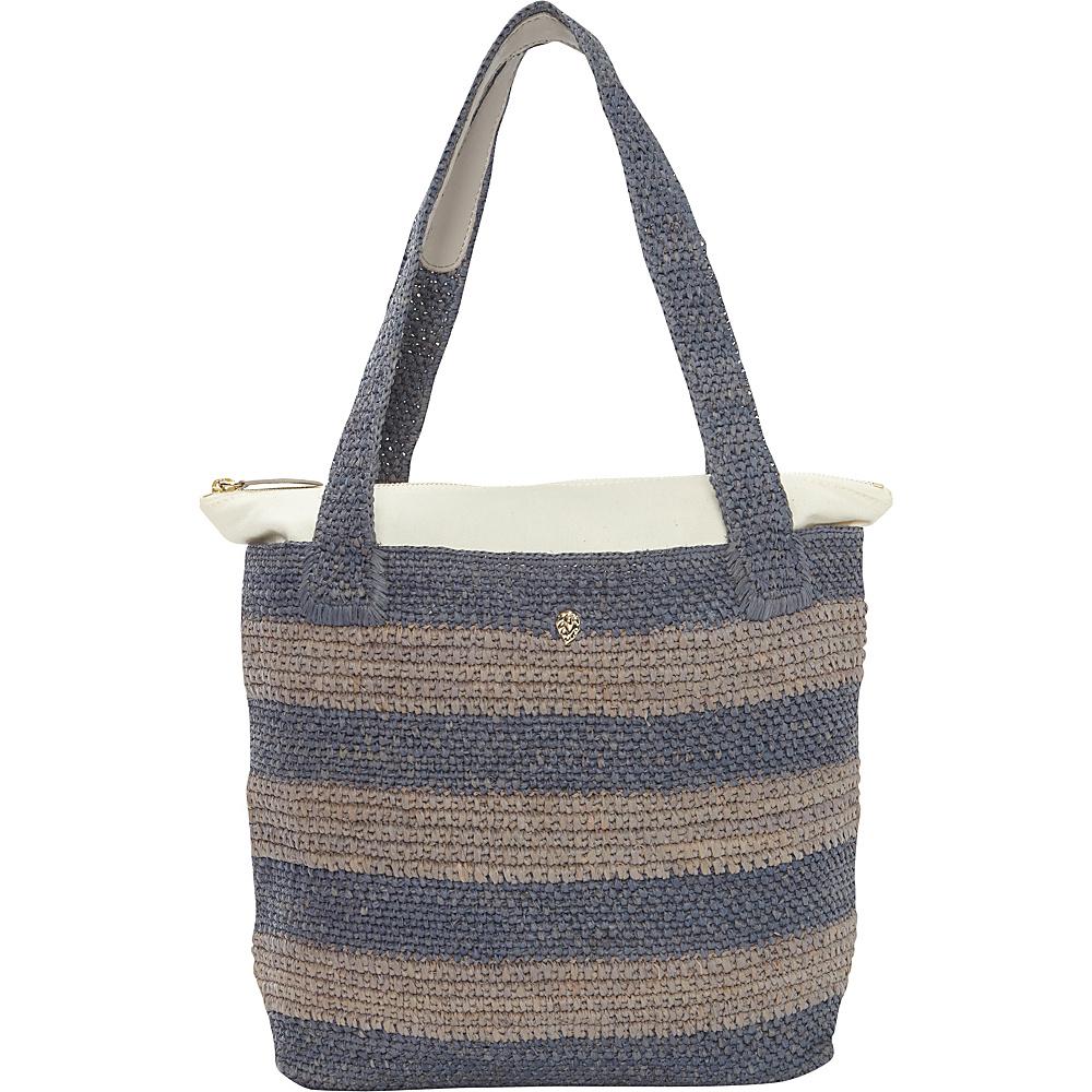 Helen Kaminski Lenora Stripe Small Tote Denim/Cloud Melange - Helen Kaminski Designer Handbags