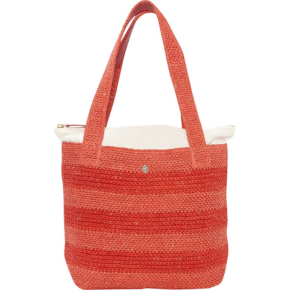 Helen Kaminski Lenora Stripe Small Tote Pomelo/Chilli - Helen Kaminski Designer Handbags